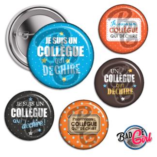 badge cabochon image collegue