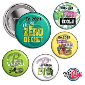 badge personnalisé cabochon resolution bio