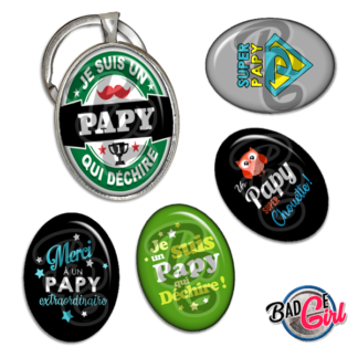 badge personnalisé papy papi bonne fete