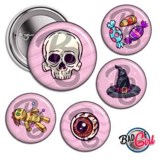 badge image cabochon personnalisé halloween skull