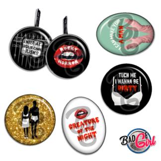 badge image cabochon personnalisé halloween rocky horror picture show