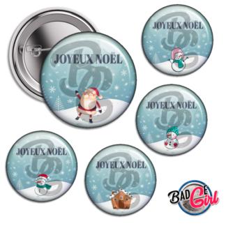 badge image cabochon personnalisé personnalisable vierge boule de Noël christmas père noël