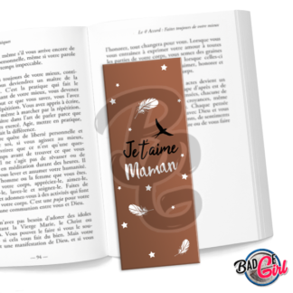 marque page parque-page image digitale numérique imprimer livre lecture super maman je t'aime