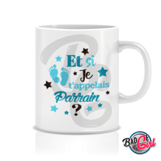 badge image cabochon personnalisé naissance bébé parrain