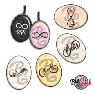 badge image digitale numerique cabochon images pour badge badges infini infinity amour love