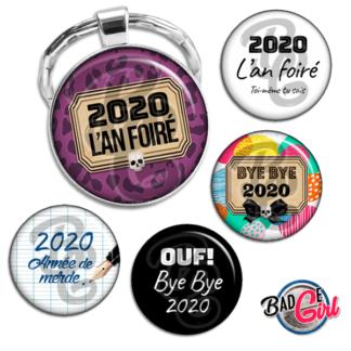 badge image digitale numerique cabochon personnalisé bonne année humour l'an foiré