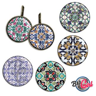 badge image digitale numerique cabochon azulejo azulejos portugal