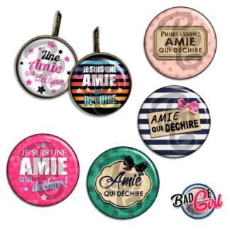 badge image digitale numerique cabochon images pour badge badges amie copine qui déchire