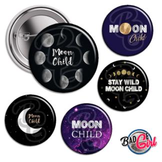 badge image digitale numerique cabochon images pour badge badges lune moon child stay wild