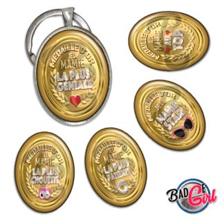 badge image digitale numerique cabochon images pour badge badges mamie médaille d'or