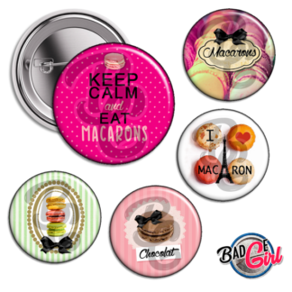 badge image digitale numerique cabochon images pour badge badges macaron macarons paris