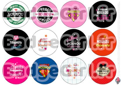 badge image digitale numerique cabochon images nounou assistante maternelle bébé enfant