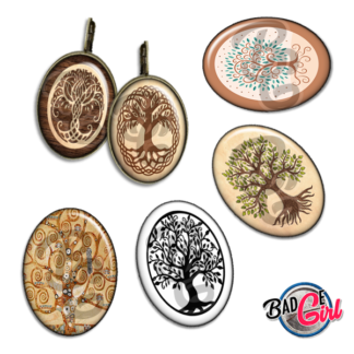 badge image digitale numerique cabochon images pour badge badges arbre de vie tree life