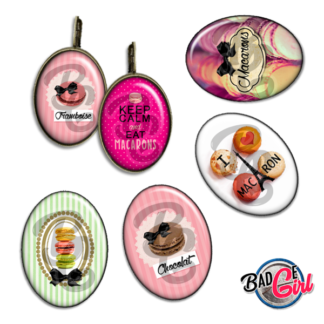 badge image digitale numerique cabochon images pour badge badges macaron macarons paris