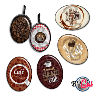 badge image digitale numerique cabochon images addict café cafe coffee expresso