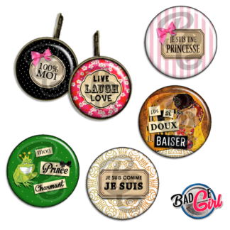 badge image digitale numerique cabochon images pour badge badges mot mots love moi live laugh klimt