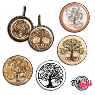badge image digitale numerique cabochon images pour badge badges arbre de vie tree life