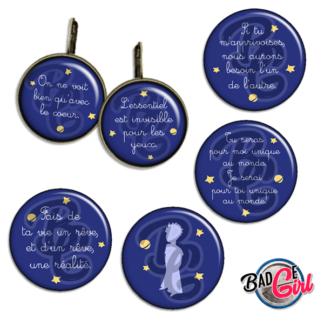 badge image digitale numerique cabochon images le petit prince renard Antoine de Saint-Exupéry