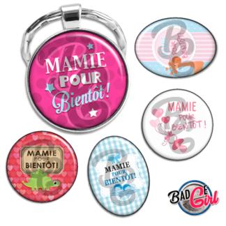 badge image digitale numerique cabochon images pour badge badges mamie mamy mami bientôt bébé naissance