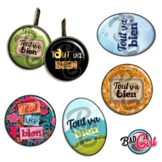 badge image digitale numerique cabochon images pour badge badges tout va bien