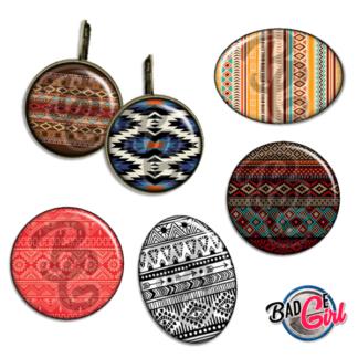 badge image digitale numerique cabochon images apache indien chaman shaman amerindien navajo zuni motif