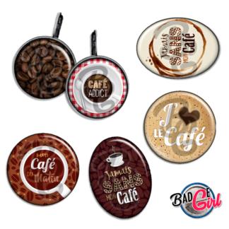 badge image digitale numerique cabochon images addict café cafe coffee expresso