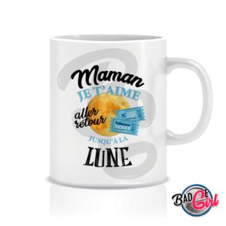 badge image digitale numerique cabochon personnalisé mug mugs tasse café maman lune je t'aime