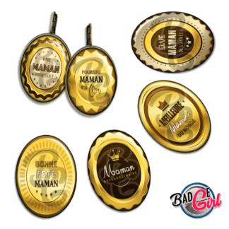 badge image digitale numerique cabochon personnalisé maman bonne fête adorée