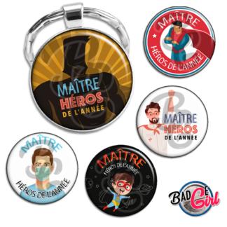 badge image digitale numerique cabochon personnalisé ecole école wonderwoman maitre maitre héros de l'année super héros