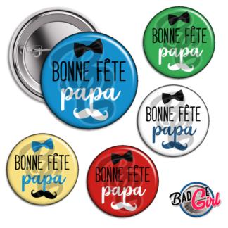 image badge bijou bonne fête papa père fête moustache noeud