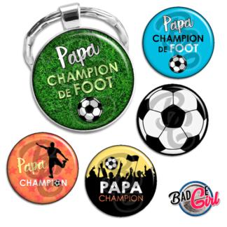 image badge bijou bonne fête papa père foot football